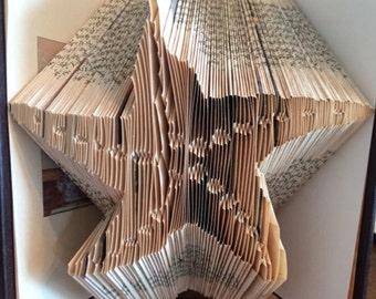 Folded Book Art Pattern Starfish Pattern Book Folding Pattern Beach Pattern