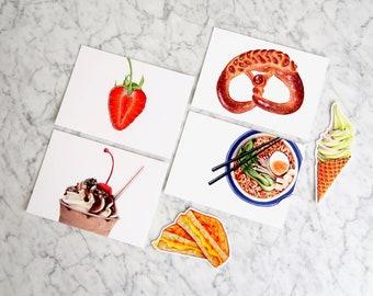 Comfort Food Aesthetic Postcard & Sticker Pack