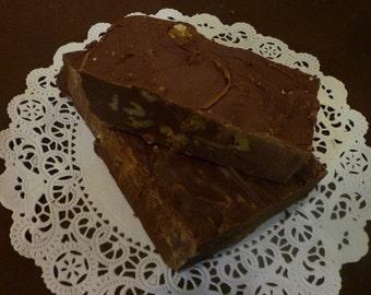 Chocolate Walnut Fudge, 1 pound Old-fashioned cream & butter recipe