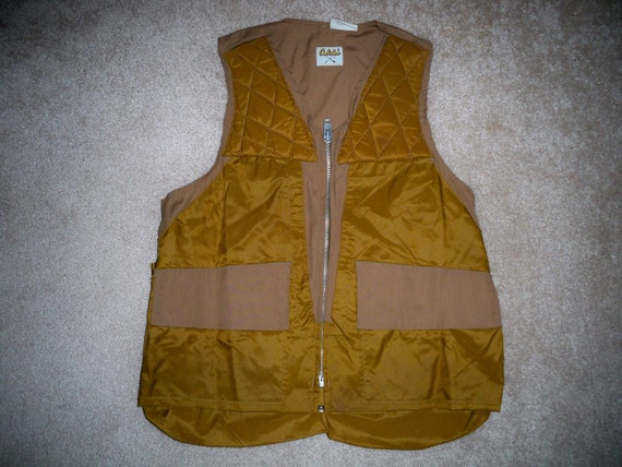 Birding 40 Cabela's Medium Game Size 42 Shooting Men's Vest Brown Vintage Cotton Bag Hunting With XZwRqdROxF