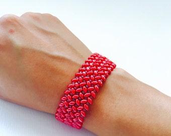 Superduo beads bracelet