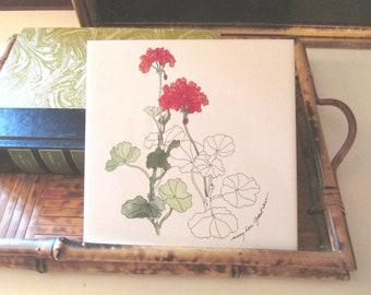 Vintage Tile Hot Plate or Trivet,