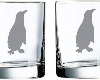 Penguin Glass  FREE Personalization