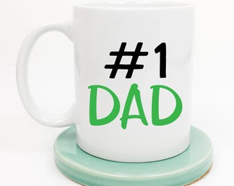 Number One Dad Mug, Fathers Day, Gift from Kids, Worlds Best Dad, Daddy Mug, Father Mug, New Dad, Dad Mug, Gift for Dad, Gifts under 20