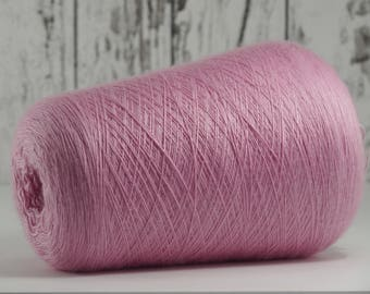 Japan cashmere-silk blend yarn on cone/cashmere/silk (Japan) on cone pink, per 50g: WS_SE_7