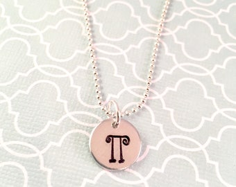 Greek letter Necklace, Greek Life, Sorority necklace, College Gift, Big Sis, Little Sis, Best Friend gift, initial necklace, Go Greek