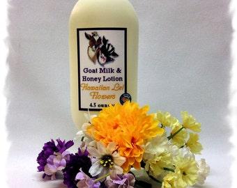 Hawaiian Lei Flowers Goat Milk Lotion _ 4.5 ounces