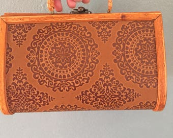 Wooden purse or accessory case.