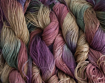 Linen 16/4, Hand painted yarn, 300 yds -  Old Brass