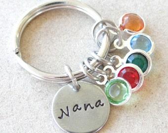Keychain, Nana keychain, grandma keychain, gift for mom, grandma gift, custom mom keychain, Custom Nana keychain, valentines gift
