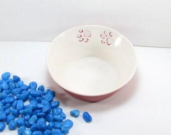 Cat food bowl, Pet feeding, Animal lover gift, Ceramic pet bowl, Pet dish, Feeding bowl, Cat bowl, Food dish, Pet gift, Cat dish, Red dish