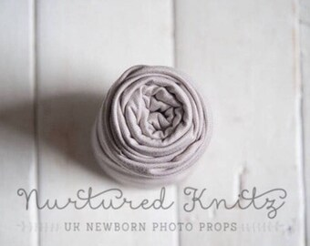 UK Seller RTS| Light Grey Extra Long Fine Jersey Stretch Wrap for newborn photography- Photo Prop