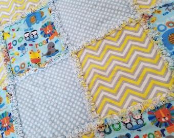 Baby Rag Quilt - Rag Quilt - Baby Blanket