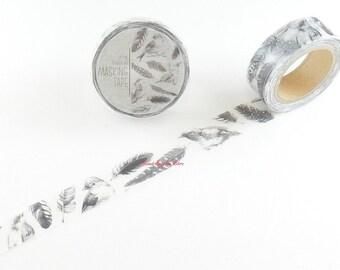 Bird Feather Japanese Washi Tape Masking Tape MiriKulo:rer  MI-MK-003 Price depends on order volume.