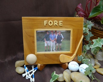Golf Picture Frames from Solid Wood with Easel Stand - Golf Gift or Great Gift for a Man