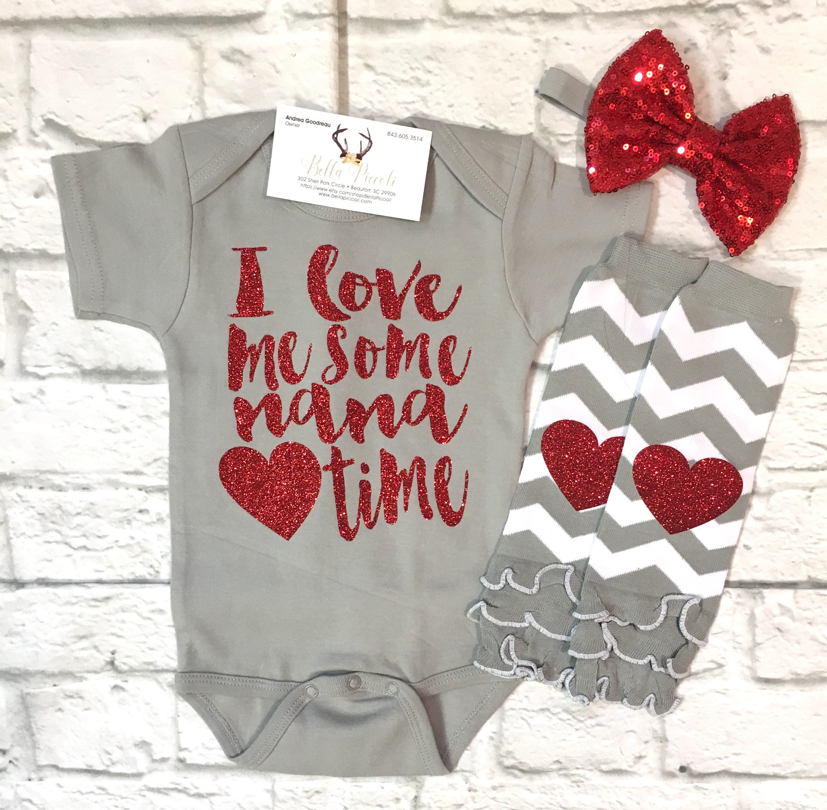 Baby Girl Clothes Nana Shirts I Love Me Some Nana Time