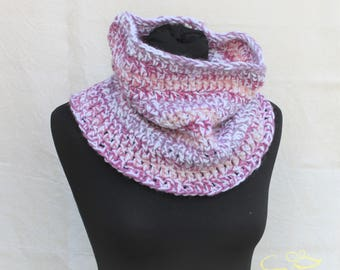 READY TO SHIP, Neck warmer, crochet Infinity scarf for man or woman, in 4 different colour combinations
