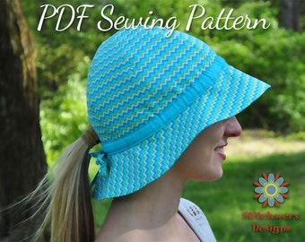 Garden Hat, PDF Sewing Pattern, Sun Hat Pattern, Baby Hat Pattern, Girls Hat Pattern, Womens Hat Pattern, Hat Sewing Pattern, Gardening Hat