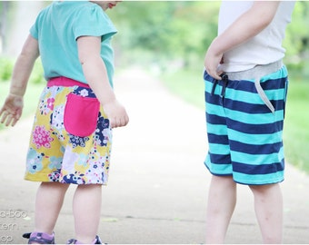 Coastal Craze Baggies: Boys Shorts Pattern, Girls Shorts Pattern, Baby Shorts Pattern