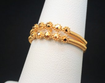 """GOLDSHINE 22K Solid Yellow Gold RING Size 7 (US/Canada) Handcrafted Hallmarked 916 """"Stunning"""""""