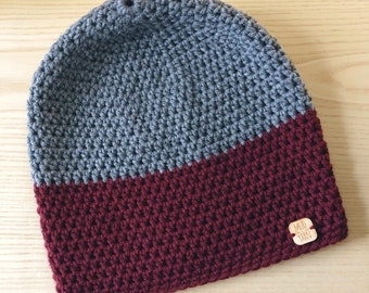 CLEARANCE Two-Toned Slightly Slouchy Beanie