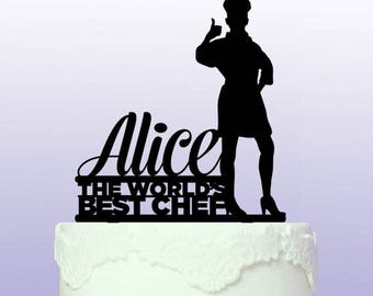 Personalised World's Best Chef Cake Topper
