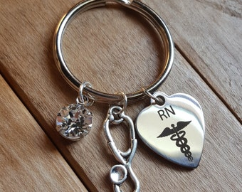 Nurse appreciation gift, nurse keychain, graduation gift, nurse graduation gift, RN gift, RN keychain, registered nurse gifts, nurse life
