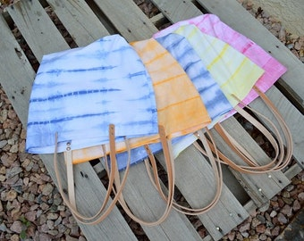 Shibori Beach Bag- Tote Bag- Beach Bag