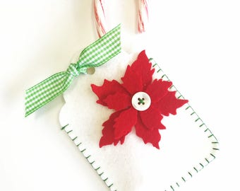 Gift Tag Kit, Pocket Gift Tag, Felt Ornament, Customizable Tag, Christmas Wrap, Personalized Tag, Gift Pouch, Gift Card Holder
