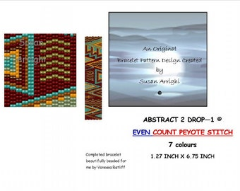 Abstract 1 EVEN COUNT Peyote Stitch Beading Pattern