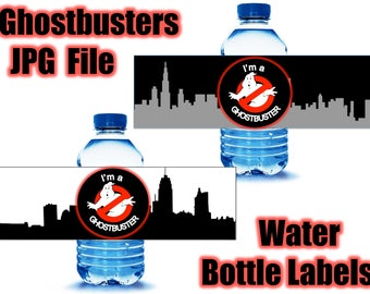 Ghostbusters JPG Water Bottles labels