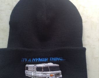 Merc - IT'S A HYMER THING...  Beanie Hat For The Discerning Hymer Lover in Black