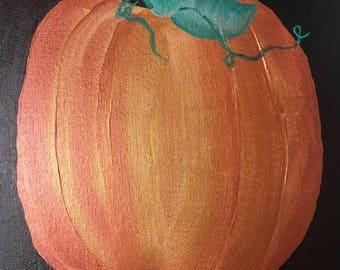 Autumn Pumpkin Fall Halloween Canvas Painting