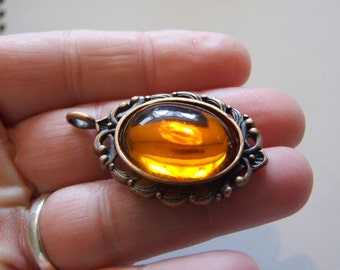 Steam punk Gothic Orange   pendent