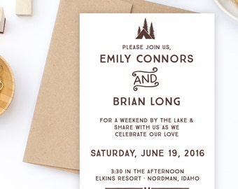 Custom Wedding Invitation Stamp Suite, Wedding Invitation Stamp, DIY Wedding Invitation Suite, Wedding Invitation Suite Stamps, Deposit ONLY