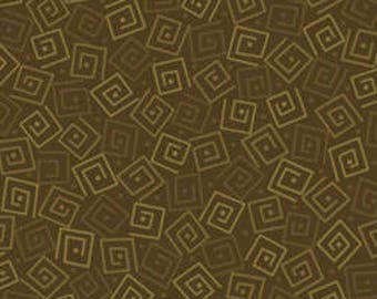 Squares - Olive 24779-GF by Quilting Treasures Cotton Fabric Yardage