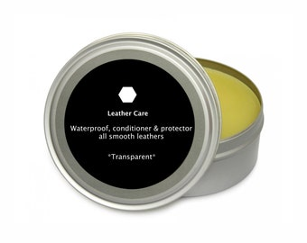 Transparent LEATHER CARE Natural leather conditioner leather balm leather oil leather wax leather preservative handmade balm leather care
