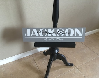 Last name personalize family sign