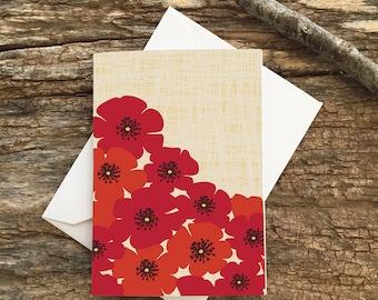 enclosure card / mini card / poppies