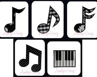 Music Applique designs