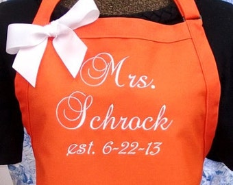 Personalized Apron Gourmet Chef Style Longer Length