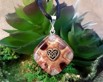 LOVE Orgone Pendant – Rose Quartz, Garnet and Rhodonite – Love, Romance, Heart Chakra Opening, Self-Love - Small