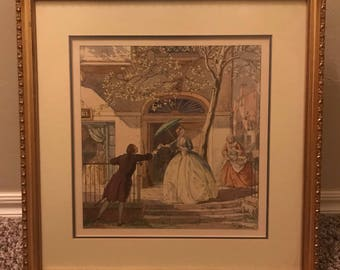 FOUR PRINTS!! T. M. Cleland lithographs of his four seasons artwork 1930s framed professionally