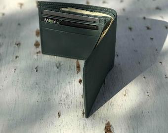Dark Green Leather Wallet, Wedding Gift For Him, Mens Leather Wallet, Bohemian Wallet, Minimalist Wallet, Gift For Him, Birthday Gift