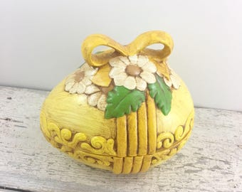 Vintage Yellow Egg Lidded Dish