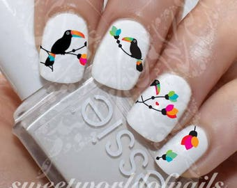 Parrots Nail Art Nail Water Decals Transfers Wraps