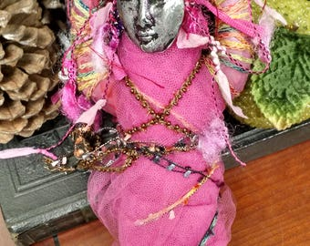 Spirit Doll Love, Friendship, Wicca, Green witch earth magick, OOAK Art Doll, Handcrafted pagan item