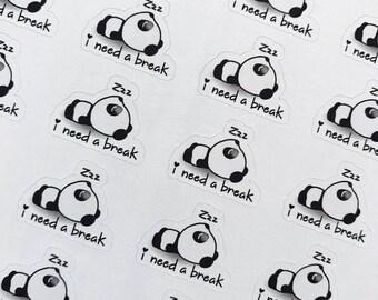 Cute panda needing a break