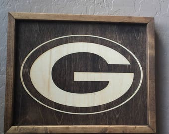 Green Bay Packers Wooden Inlay Wall Art