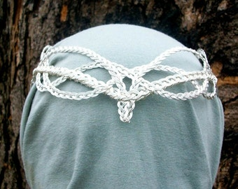 Celtic Weave Elven Wedding Crown Silver